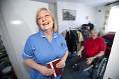 Community nurse on her rounds. Bristol - Paul Box - 09-03-2010