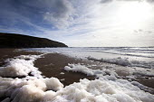 Foam on the beach at Hells Mouth, Wales - Paul Box - 02-11-2010