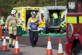 Oporational monitoring. West Wales Fire and rescue service carry out a mock Chemical spill at Gelliswick Bay, Pembrokeshire - Paul Box - 06-10-2011