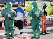 West Wales Fire and rescue service carry out a mock Chemical spill at Gelliswick Bay, Pembrokeshire - Paul Box - 2010s,2011,adult,adults,chemical,CHEMICALS,contamination,decontamination,DIA,Emergency Services,exercise,exercises,Fire AND rescue,fire brigade,firefighter,firefighters,fireman,firemen,GTB,hasmat,haza