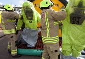 West Wales Fire and rescue service carry out a mock Chemical spill at Gelliswick Bay, Pembrokeshire - Paul Box - 06-10-2011