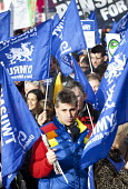 NASUWT Cymru at the Strike by public sector workers over pensions. Cardiff, Wales. - Paul Box - 30-11-2011