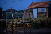 Oyster farmers huts in La Tremblade, France. - Paul Box - 30-08-2011