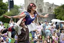 Performers at the Bristol International Harbour Festival 2011. - Paul Box - 2010s,2011,ACE,acrobat,acrobatics,acrobats,act,acting,actor,actors,actress,actresses,artist,artists,audience,AUDIENCES,boy,boys,Bristol,child,CHILDHOOD,children,cities,City,costume,costumes,Council,cr