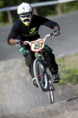 A BMX rider at the Tumps, Odd Down, Bath. - Paul Box - 15-05-2011