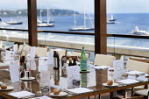 Fine dining at a restaurant, Monaco. - Paul Box - 2010s,2011,AFFLUENCE,AFFLUENT,boat,boats,Bourgeoisie,catering,dining,EBF,Economic,Economy,elite,elitism,EQUALITY,eu,Europe,european,europeans,eurozone,Fine,france,french,high,high income,holiday,holid