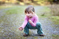 A young girl at Llyn Elsi near Betws-y-Coed, Conwy, North Wales. - Paul Box - 15-10-2011