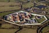 HMP Bullingdon a Category B/C men's prison, located in the village of Arncott (near Bicester) Oxfordshire. - Paul Box - 2010s,2012,Aerial View,B/C,Category,clJ,country,countryside,crime,field,fields,Her,HM,jail,jails,justice,land,law,Majesty's,men's,outdoors,outside,penal system,penitentiary,Prison,prisons,rural,securi