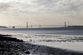 The severn estuary with the new and old bridge in the background. - Paul Box - 2010s,2012,bridge,bridges,country,countryside,EBF,Economic,Economy,eni,environment,Environmental Issues,estuaries,estuary,highway,infrastructure,mud,nature,outdoors,outside,river,rivers,road,roads,rur