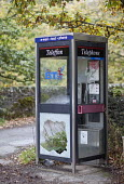 A vandalised rural BT telephone box, North Wales. - Paul Box - 27-10-2011