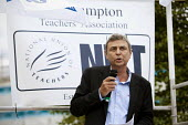 Dave Prentis, UNISON leader of Unison trade union at an Anti-Cuts march, Southampton. - Paul Box - 03-07-2011