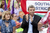 Diana Holland, Unite the union and Dave Prentis, UNISON leader of Unison trade union at an Anti-Cuts march, Southampton. - Paul Box - 03-07-2011
