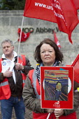 UNITE pensions picket at MOD headquarters for procurement, Abbey Wood, Bristol. - Paul Box - 10-05-2012