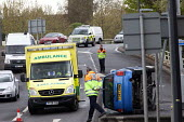 Car crashes on the slip road of the M32, Bristol. - Paul Box - 18-04-2012