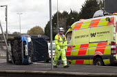 Accident support unit attends a car crash on the slip road of the M32, Bristol. - Paul Box - 18-04-2012