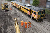 Plasser & Theurer ballast tamping machine, Colas Rail, Portishead to Bristol freight line being upgraded. - Paul Box - 20-05-2012