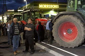 Farmers protest against the low price of milk. Morrisons distribution centre, near Bridgewater. - Paul Box - 19-07-2012