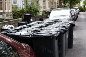 Bristol council remove large wheelie bins and replace them with smaller bins to reduce waste Bristol. - Paul Box - 01-06-2012