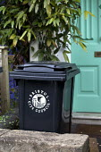 A small wheelie bin. Bristol council remove large wheelie bins and replace them with smaller bins to reduce waste Bristol. - Paul Box - 01-06-2012