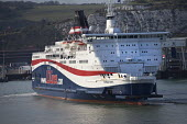 LD Lines ferry setting sail from the port of Dover to make the crossing to Calais, France. - Paul Box - 13-04-2012