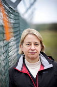 Natalie Bennett of the Green Party. Stop new nuclear protesters trespass on the site of the proposed EDF Energy's new nuclear reactor at Hinkley point, Hinkley C power plant Somerset. - Paul Box - 2010s,2012,activist,activists,against,anti,atomic,CAMPAIGN,campaigner,campaigners,CAMPAIGNING,CAMPAIGNS,civil disobedience,DEMONSTRATING,demonstration,DEMONSTRATIONS,demonstrators,EDF Energy,Hinkley,n