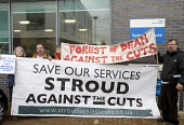 Members of the campaign against local privatisation of the NHS, SATC.The Board of NHS Gloucestershire attending an extraordinary meeting to decide whether Gloucestershire community health services wil... - Paul Box - 15-10-2012