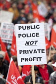 Public Police not Private Profit. A Future That Works. March and rally organised by the TUC to protest against the government austerity policies and to call for an alternative economic strategy that p... - Paul Box - 2010s,2012,activist,activists,adult,adults,against,anti,Anti privatisation,Anti privatisation,anti privatization,austerity,Austerity Cuts,CAMPAIGN,campaigner,campaigners,CAMPAIGNING,CAMPAIGNS,cuts,DEM
