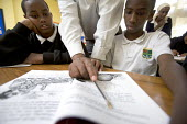 Fitzalan High school, Cardiff. Somali pupils are taught their native language. - Paul Box - 07-12-2005