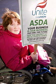 ASDA ends its contract with Welsh Country Foods (WCF) in Llangefni, Angelsey. Protest at Asda Llangefni. Wales. Workers at a closure-threatened meat plant on Anglesey have asked customers to boycott A... - Paul Box - 26-01-2013