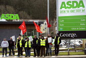 ASDA ends its contract with Welsh Country Foods (WCF) in Llangefni, Angelsey. Workers protest at Asda Bangor. Wales. Workers at a closure-threatened meat plant on Anglesey have asked customers to boyc... - Paul Box - 26-01-2013