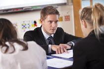 A teacher teaching a maths class at Clevedon school, Clevedon - Paul Box - 13-09-2011