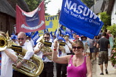 NASUWT Riverside brass band, The Tolpuddle Martyrs Festival. Tolpuddle - Paul Box - 21-07-2013