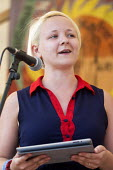 Toni Pearce President of the NUS, National Union of Students speaking at The Tolpuddle Martyrs Festival. Tolpuddle - Paul Box - 21-07-2013