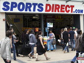 Sports Direct sports store, Bristol - Paul Box - 2010s,2013,bought,buy,buyer,buyers,buying,commodities,commodity,consumer,consumers,contracts,customer,customers,EBF Economy,goods,LFL,LIFE,minimum wage,pedestrians pedestrians,PEOPLE,purchase,purchase