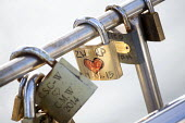 Love locks on Pero's bridge, Harbourside, Bristol, European Green Capital - Paul Box - 03-02-2015