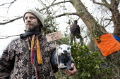 Protesters camp in trees to stop them being cut down and building on Stapleton allotments for the Metrobus new bus lane, Bristol. - Paul Box - 02-02-2015
