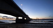 Sunset over The Second Severn Toll Bridge between England and Wales, Bristol Channel, Severn Estuary. - Paul Box - 06-01-2015