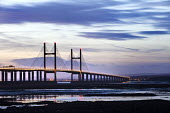 Sunset over The Second Severn Toll Bridge between England and Wales, Bristol Channel, Severn Estuary. - Paul Box - 24-01-2015