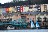 Harbourside sailing school sailing club, Bristol, European Green Capital. - Paul Box - 2010s,2014,adolescence,adolescent,adolescents,boat,boats,Bristol,cities,city,City centre,cityscape,cityscapes,class,club,clubs,color,colorful,colorfull,colors,colour,colourful,colours,dock,docks,docks