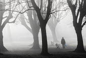 Fog in St Andrews Park, Bristol. - Paul Box - 2010s,2015,age,ageing population,cities,city,CLIMATE,cold,conditions,Council Services,Council Services,elderly,exercise,exercises,exercising,FEMALE,fog,foggy,frozen,local authority,mist,misty,nature,o