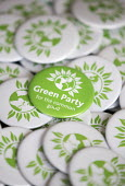 Badges, The Green Party Headquarters, Bristol. - Paul Box - 2010s,2015,badge,badges,campaign,campaigning,CAMPAIGNS,DEMOCRACY,election,elections,General Election,Green Party,Headquarters,HQ,Party,pol,political,POLITICIAN,POLITICIANS,politics