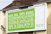 A Green Party billboard on the Gloucester rd, Bristol. - Paul Box - 2010s,2015,advertisement,advertisements,advertising,billboard,billboards,campaign,campaigning,CAMPAIGNS,DEMOCRACY,election,elections,General Election,Green Party,Party,pol,political,POLITICIAN,POLITIC