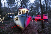 Withdrawn by Luke Jerram, Leigh Woods, Bristol. An art installation of fishing boats that hopes to provoke discussion about climate change, extreme weather, falling fish stocks and our impact on the m... - Paul Box - 2010s,2014,ACE,art,Art Gallery,arts,artwork,artworks,boat,boats,cities,city,culture,disused,estate,estates,exhibition,fine art,fish,fisheries,fishery,FISHES,fishing,Fishing Industry,fishingindustry,fo