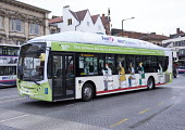 The UKs first bus powered entirely by human and food waste, in service between Bristol and Bath. The 40-seat Bio-Bus runs on biomethane gas generated through the treatment of sewage and food waste. It... - Paul Box - 2010s,2015,agrofuel,agrofuels,alternative,Alternative Energy,Bio Bus,biofuel,biofuels,Bristol Green Capital,bus,bus service,buses,cities,city,Company,Council Services,Council Services,driver,drivers,d