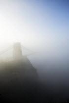 Clifton Suspension Bridge in the fog, Bristol - Paul Box - 30-11-2014