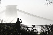 Clifton Suspension Bridge in the fog, Bristol - Paul Box - 2010s,2014,activities,amateur,Amateur Photographer,bicycle,bicycles,BICYCLING,Bicyclist,Bicyclists,BIKE,BIKES,bridge,bridges,camera,cameras,cities,city,CLIMATE,conditions,cycle,cycles,cycling,Cyclist,