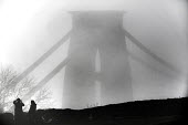 Clifton Suspension Bridge in the fog, Bristol - Paul Box - 2010s,2014,activities,amateur,Amateur Photographer,bridge,bridges,camera,cameras,cities,city,CLIMATE,conditions,fog,foggy,hobbies,hobby,hobbyist,Leisure,LFL,LIFE,male,man,men,Outdoor Activity,PEOPLE,p