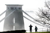 Clifton Suspension Bridge in the fog, Bristol - Paul Box - 2010s,2014,activities,amateur,Amateur Photographer,bridge,bridges,camera,cameras,cities,city,CLIMATE,conditions,fog,foggy,hobbies,hobby,hobbyist,holiday,holiday maker,holiday makers,holidaymaker,holid