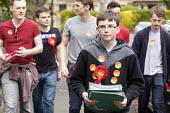 Young Labour supporters canvas in the ward of West Bristol for the labour candidate Thangam Debbonaire. This is a very closely fought seat. - Paul Box - 04-05-2015