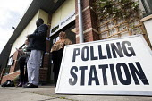 A polling station in Easton, Bristol - Paul Box - 2010s,2015,BAME,BAMEs,Black,BME,bmes,cities,city,communicating,communication,democracy,diversity,election,elections,ethnic,ethnicity,General Election,local elections,minorities,minority,people,poc,pol